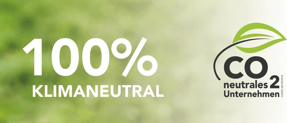 100% Klimaneutral - CO² neutrales Unternehmen