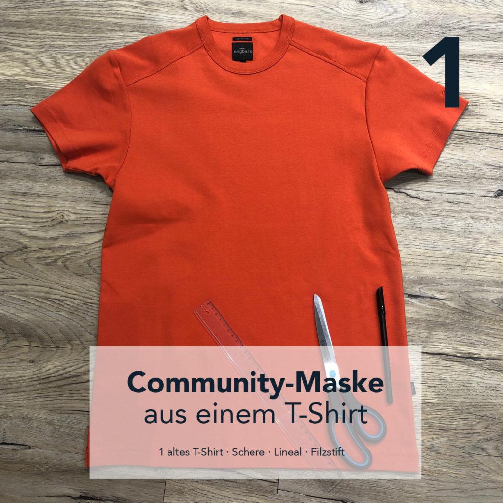 Maske aus einem T-Shirt
