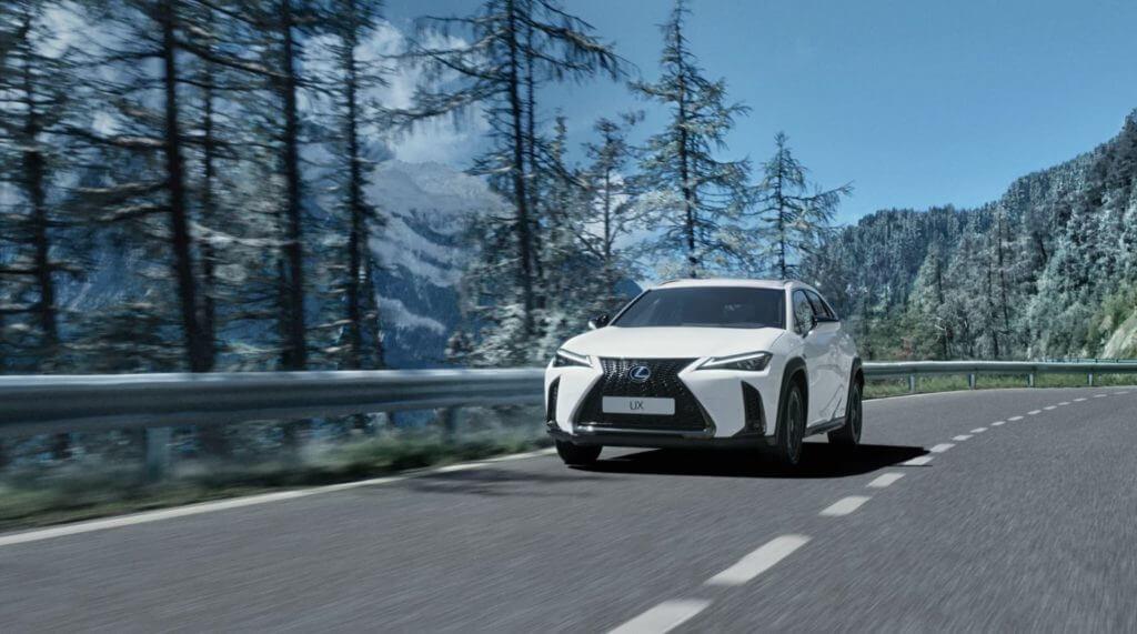 Lexus UX Hybrid Auto Gewinnspiel - Straße