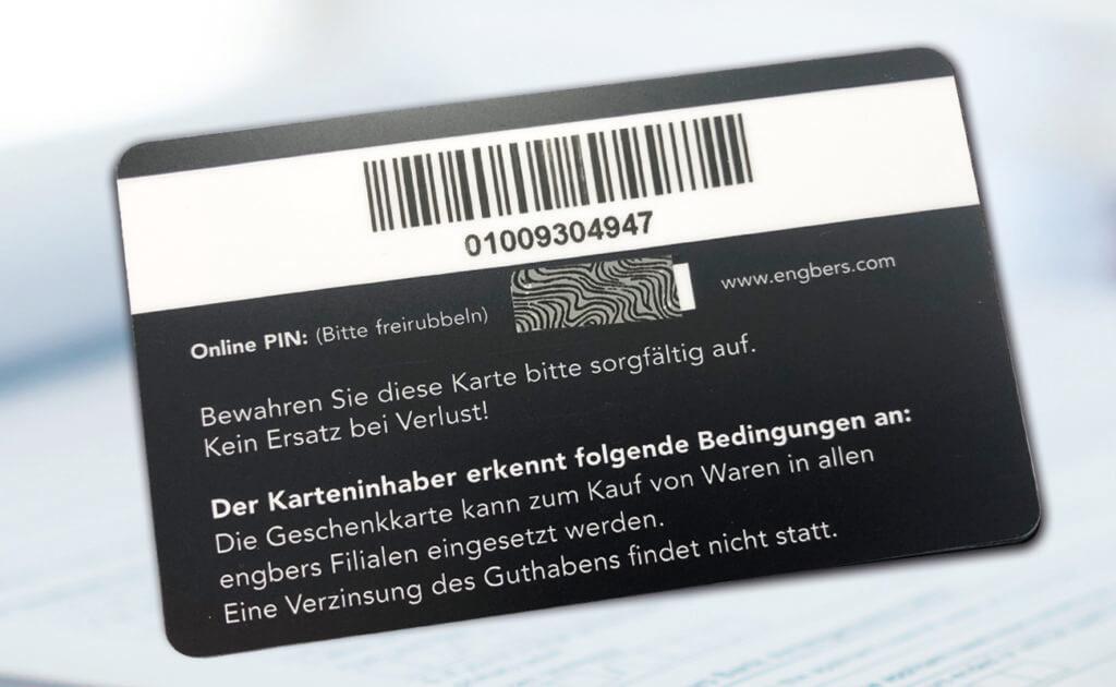 engbers Geschenkkarte Rückseite