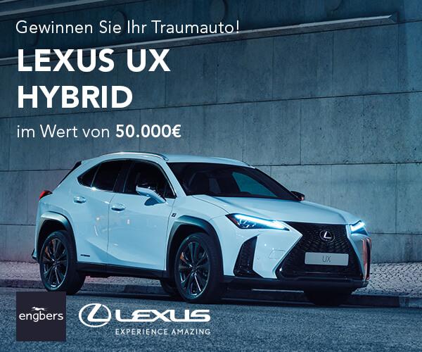 Gewinnspiel Lexus UX Hybrid Auto