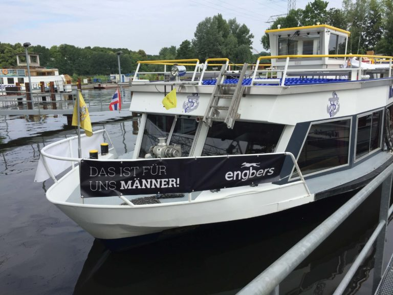 engbers Kundenevent in Berlin - Boot