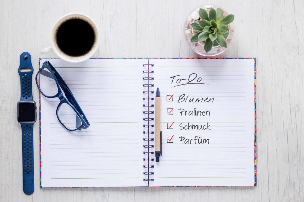 Valentinstag: Checkliste zusammengestellt von engbers