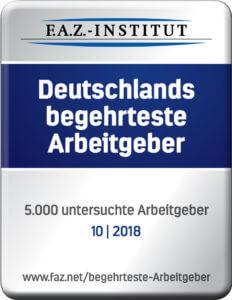 Auszeichnung - Deutschlands begehrtester Arbeitgeber