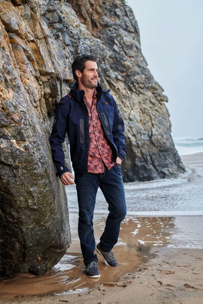engbers - Florales Hemd kombiniert mit Softshell-Jacke