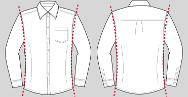 Slim Fit Hemden Grafik