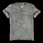 Schmeichelnde Kleidungsstücke für den Sommertyp - Herren Henleyshirt in grau