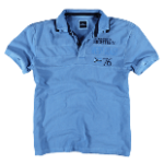 Schmeichelnde Kleidungsstücke für den Sommertyp - Herren Poloshirt in blau