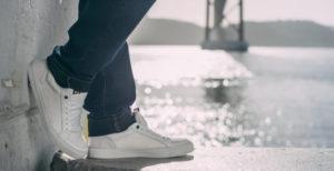Stylischer Sneaker von engbers für Trendbewusste Männer - Herren Sneaker in weiß