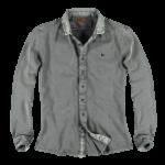 Schmeichelnde Kleidungsstücke für den Sommertyp - Herren Poloshirt in grau