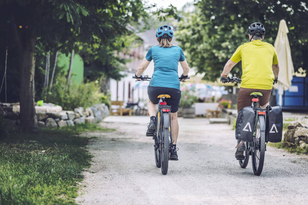 E-Bikes von Lucky Bike, Rückenansicht