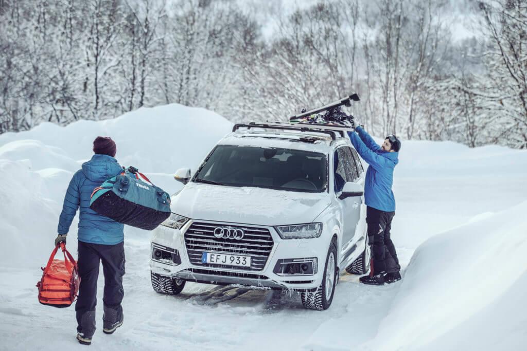 Gewinnspiel mit Tuhle - Audi im Schnee