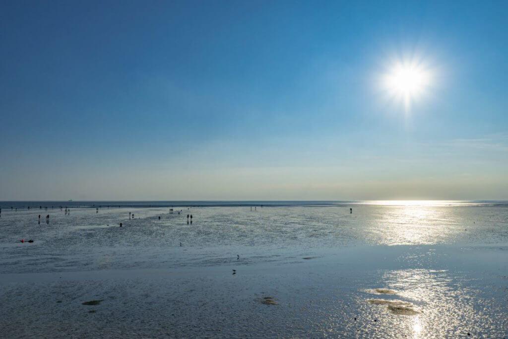 Urlaub an der Nordsee - Wattenmeer sonnig