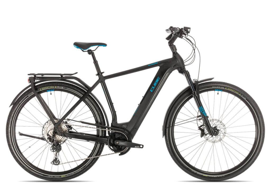 E-Bike von Lucky Bike - Schwarz mit blauen Details