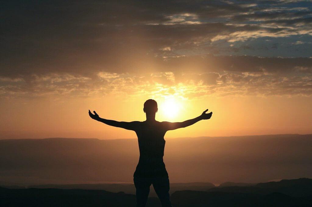Selbstliebe und der innere Kritiker - Sonnenuntergang