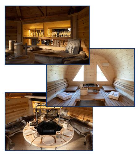 Stimmungsbild Fasssauna & Grillhütte