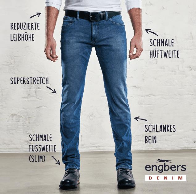 Darstellung der Passform der Hose